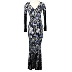 Venus Size Small Long Sleeve Fitted Maxi Dress